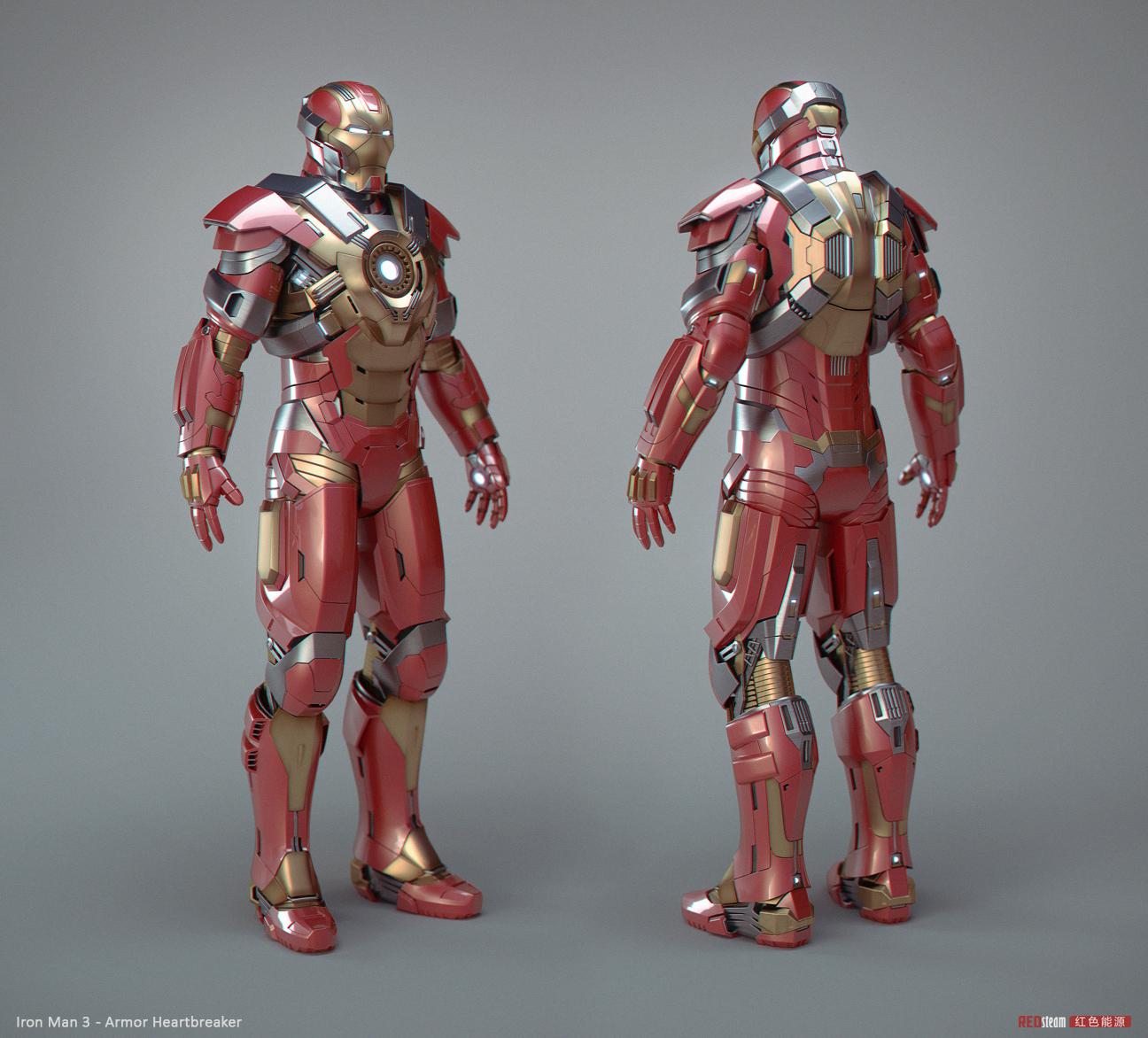 Iron Man 3 Armor Suits Mark 17 5K'3D